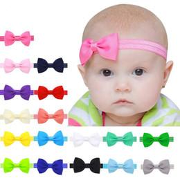 Wholesale Multicolor Headbands - 2017 Multicolor Bowknot Mini Headbands girl hair accessories Girl headband cute hair band newborn floral headband