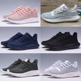 Wholesale Flat Cardboard - 2017 High Quality Mens Womens Originals Tubular Shadow Knit Core Black White Cardboard Sneakers Running Shoes 350 boost 3D Sneakers 5-10