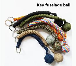 Wholesale parachute balls - Hot Emergency escape umbrella rope woven ball anti-body ball key chain hand-woven multi-purpose parachute rope knitting key chain 1