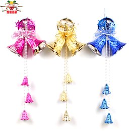 Wholesale Large Bell Decorations - Christmas decorations, Christmas bell series of large color bell horn ornaments accessories shops Arcades Hotel