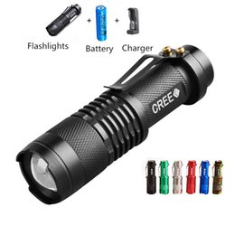 Wholesale Gear Drives - Promotion Gift Outdoor Gear Mini Flashlights Escape Mountaineer Hiking Camping LED Light Electric Torches SOS XPE Lamp Charger 14500 Battery