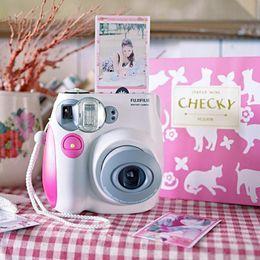 2019 fuji instax mini Moda para Fuji Mini 7s Único Uso da câmera Fujifilm Instax Mini 7 s Câmera de Fotos de Filme Instantâneo frete grátis desconto fuji instax mini