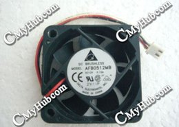 Wholesale Delta Fans Laptop - Free Shipping Laptop Ventilator Cooling Fan For Delta Electronics AFB0512MB DC12V 0.12A 5015 5CM 50mm 50x50x15mm 2Pin 2Wire Cooling Fan