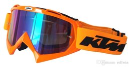 Óculos off road on-line-Motocicleta KTM Motocross Capacete Off Road Capacete Motor Casco Engrenagem Protetora Combinada KTM MX Óculos de Proteção