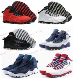 Wholesale Chi Flat - Retro 10 Paris NYC CHI Rio LA Hornets City Pack Vivid Pink 10s Men Basketball Shoes Sneakers Retro X Sports Shoes Eur Size 41-47 us 8-13
