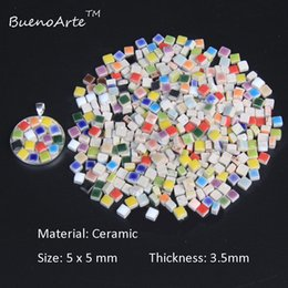Wholesale Diy Ceramics - 400 PCS pack 5mm Micro Ceramic Mosaic Tile, Thickness: 3.5mm, DIY Hobbies Craft Material. DIY Tiny Mini porcelain Mosaic Tile