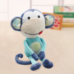 Wholesale Monkeys Toys Brands - Cute Monkey Plush Doll Puppet Toy For Infant Baby Kids' Room Decaration Creativity Puppet new brand