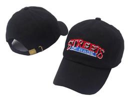 Wholesale Denim Caps Hats - Streets Of Rage Dad cap strapback adjustable Drake hat vintage golf Black Denim