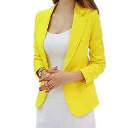Wholesale Korean Style Ladies Blazer - Blazer Femin 2016 New style Long-Sleeved Slim Women Blazers And Jackets Small Women Suit Korean Version Ladies Blazer Femme