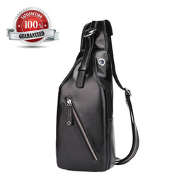 Wholesale Envelope Chest - Men's Single Shoulder Bag Outdoor PU Leather Chest Sling Pack Bag Cross body Bag for Camping out155