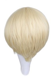 Wholesale Blonde Men Wigs - boy QQXCAIW Short Straight Cosplay Men Boy Party Blonde 30 Cm Synthetic Hair Wigs wig wig