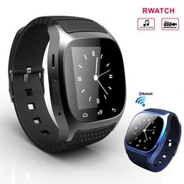 Wholesale I Phone Leads - Bluetooth Smartwatch M26 Bluetooth Sport Smart Watch With LED Alitmeter Music Player Pedometer For Andriod Smart Phone I phone Free DHL