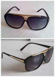 Wholesale Polished Sunglasses - Luxury brand Mens Womens Brand Sunglasses Evidence Sun glasses Designer Polished Black Frame Glasses Eyewear Come With Case