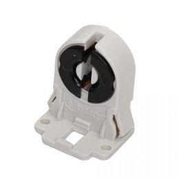 Wholesale Plastic Led Bracket - T8 G13 Fluorescent Light Socket Lamp AC100-250V 50 60Hz Plastic Holder suitable for T8 G13 LED bracket lamp free shipping