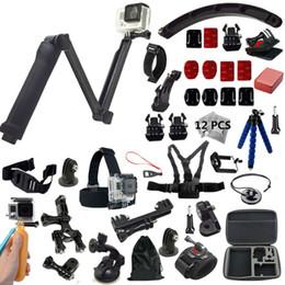 Wholesale Diving Kit - 3-Way monopod Gopro Accessories kit For Go Pro HERO4 Session Cameras And SJCAM SJ4000 5000 xiaoyi mi 3 way grip arm tripod
