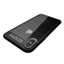 Per iPhone X 10 Indietro Custodie in plastica trasparente color acrilico Colore shock Antiurto per iPhone X da