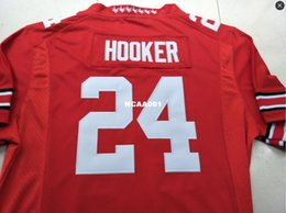 ad75604f4 Men  24 Malik Hooker Ohio State Buckeyes College Jersey white red black  Personalized S-4XLor custom any name or number jersey ohio state football  jersey ...