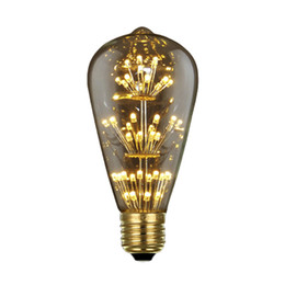Wholesale Dimmable Candle Corn - Edison Bulb Retro LED dimmable Lamp E27 110-220V 3W Star Droplight Coffee Bed Room Creative Light Bulbs Party Decoration Light