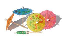 Wholesale Drink Parasol - Wholesale- Free shipping 144pcs pack umbrella picks cocktail parasol drink picks party picks art toothpick high quality