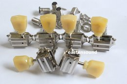 Wholesale Deluxe Tuners - One Set 3R-3L Vintage Deluxe Guitar Machine Heads Tuners In Nickel