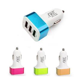 2019 новый бренд новый высококачественный универсальный 3 порта USB 2A 2.1 A 1A автомобильное зарядное устройство прикуривателя зарядное устройство адаптер для телефона планшет стайлинга автомобилей дешево новый бренд