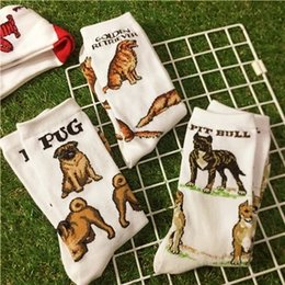 Wholesale Animal Short Crew Socks Women Flamingo Lobster Cranes Horse Pet Penguin Golden Retriever Boxer Pug Pit Bull Dachshund Crab