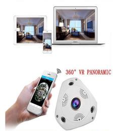 alarma dvr de red Rebajas La cámara de video superventas VR 1.3MP 1280 * 960 WiFi de 360 grados cámara panorámica Fisheye IP de visión nocturna Cámaras CCTV profesionales 5set / lot