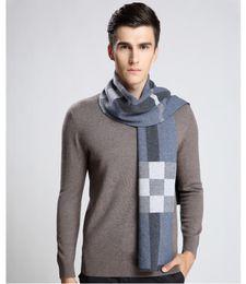 Wholesale Scarves Male - 2017 Newest Design Brand Scarf Men Warm Luxury Scarves Echarpe Fashion Plaid Wool Scarf Man Wool Thick Warm Muffler Neckwarmer Male