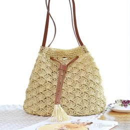 Wholesale Handmade Bags Summer Fashion - Factory Sales Cross Body Handmade Natrual Straw Summer Beach Handbags Women Evening Fashion Bags Free Shipping