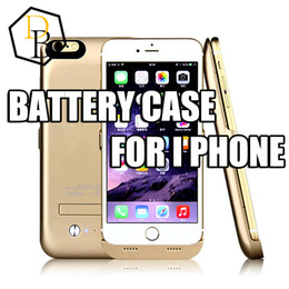 Wholesale External Batery - 4200mah battery case external power bank for Iphone 6 Plus Lithium ion polymer batery case rechargable power backup case with leather cover