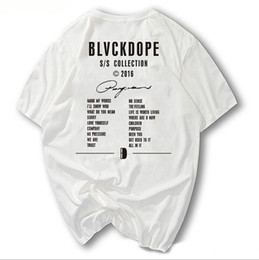 Wholesale China Fashion Shirts - BLVCKDOPE Germany Street Fashion BD Tee Kanye West season Men T-shirts Hiphop Heybig Swag clothing China Sizing Skateboard Tops