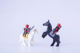 Wholesale Battle Figures - 25pcs lot Horse with Saddle Mini Building Blocks Figures Mediaeval Battle Horse Hobbit Super Heroes Star Wars Minifig Knight Horse Toy