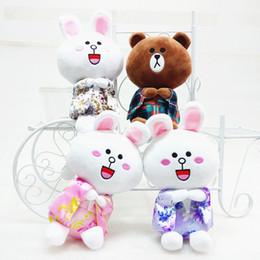 Wholesale Friends Tv Series - Friends of Skyleshine 1pc series, 20cm creative white bear, cute cartoon doll, gift S5100