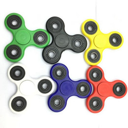 Wholesale Hot Kids Shop - 500pcs 2017 Hot Sell Toys Hand Spinner Tri Fidget Ceramic Ball Desk Focus Toy EDC For Kids Adults DHL Free Shopping