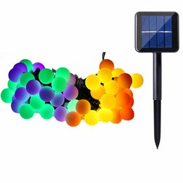 Wholesale Indoor Garden Party Decorations - Solar Globe 50 LED Ball String Lights Solar Powered Christmas Light Patio Lights Lighting for Home Garden Lawn Party Decorations