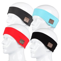 Wholesale Music Gift Wrap Wholesale - Stereo Wireless Bluetooth Music Headband Mens Womens Sports Running Fitness Yoga Stretch Headset Wrap Caps Perfect Gifts
