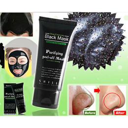 Wholesale Black Heads Removal - Wholesale- 1pcs Deep Cleansing Purifying Peel Off Black Mud Black Mask Remove Blackhead Removal Face Mask Black Head Pore Strip
