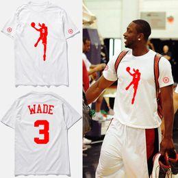 Wholesale Traning Clothes - Hip hop brand clothing t-shirt Wade No.3 Athletes Shoot basketbal jersey traning tee shirts homme streetwear,tx2345
