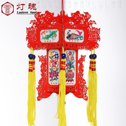 Wholesale Indoor Paper Lanterns - 12cm Chinese traditional paper carving palace lantern for indoor Christmas decoration and new year festival decoration