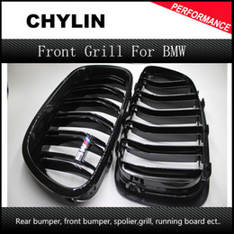 Wholesale Plastic Grilles - For BMW F10 5 Series 520i 523i 525i 530i 535i 2010-2014 Glossy Black Dual Slat M5 Style Front Kidney Grille Grill Wholesale D10