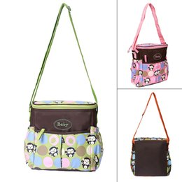 small bag monkey Promo Codes - Wholesale-Waterproof baby diaper bag small size monkey print mother maternity bag cross body baby travel nappy change bag mummy hobos