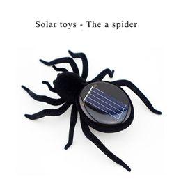 Wholesale Cute Solar - New Fashion Novelty Toys High Quality Solar Power Cute Spider Kids toys Black Crazy Spider Children Toy Solar Energy Toy B1158