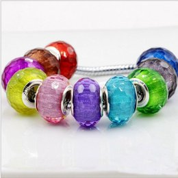 Wholesale Mixed Faceted European - Fits Pandora Bracelets Mixed 50pc Faceted Dot Line Loose Charms Beads Silver Charm Bead For Wholesale Diy European Sterling Necklace Women