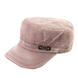 Wholesale Cadet Hats Wholesale - Wholesale- Fashion Unisex Adult Coming Cadet Cap Headwear Men Women Classic Adjustable Army Plain Hat Wholesale