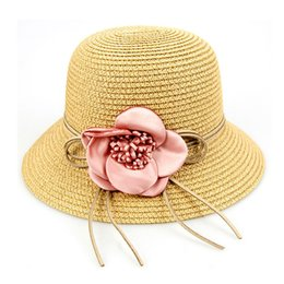 Wholesale Wide Brim Hats For Girls - 2017 New arrived Jacquard Wide Brim Caps Exquisite hats for Women and Girl Suitable for Spring Summer and autumn 007