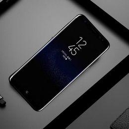Wholesale dual sim 8mp - 5.8INch Big Size HDC S8+ S8 Plus smartphone MTK6580 Quad Core Cellphone 1GBRAM 16GBROM Curve Screen 8MP Back Camera Shown 4G 128G 4G Phones