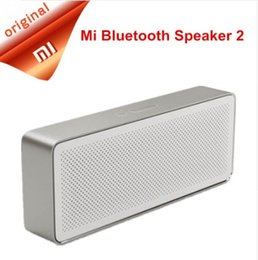 Wholesale Mobile Phone Music Speakers - Original Xiaomi Mi Bluetooth Speaker Square Box 2 Stereo Portable Bluetooth 4.2 High Definition Sound Quality 10h Play Music AUX