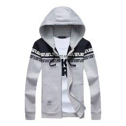 Wholesale Moleton Fashion - Wholesale-2016 new fashion men sweatshirts coat hooded outwear sportswear moleton masculino 4XL 5XL DCL104
