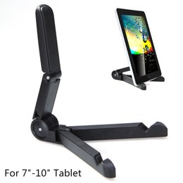 Soporte plegable universal portátil de pie online-Soporte de soporte portátil plegable para Apple iPad Mini / Kindle Android Tablet Soporte universal plegable portátil