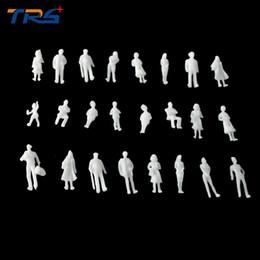 Wholesale Ho Scale Model Figures - Wholesale- 1;100 MIXED 100pcs miniature white figures Architectural model human scale HO model ABS plastic peoples 2.0cm